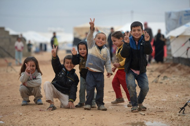Syrian children at a refugee camp in Za'atari, Jordan (Getty Images).